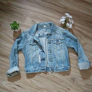 AE Crop Denim Jacket